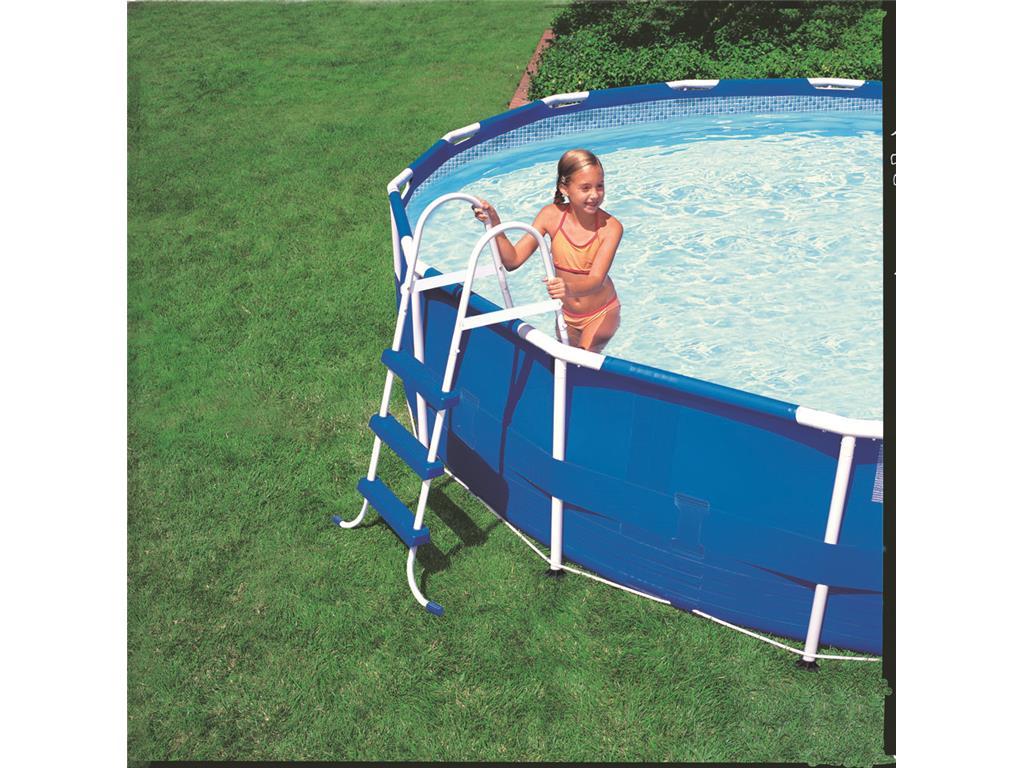 Scaletta per piscina fuoriterra 3 gradini intex h 107 cm - Gradini per piscine ...