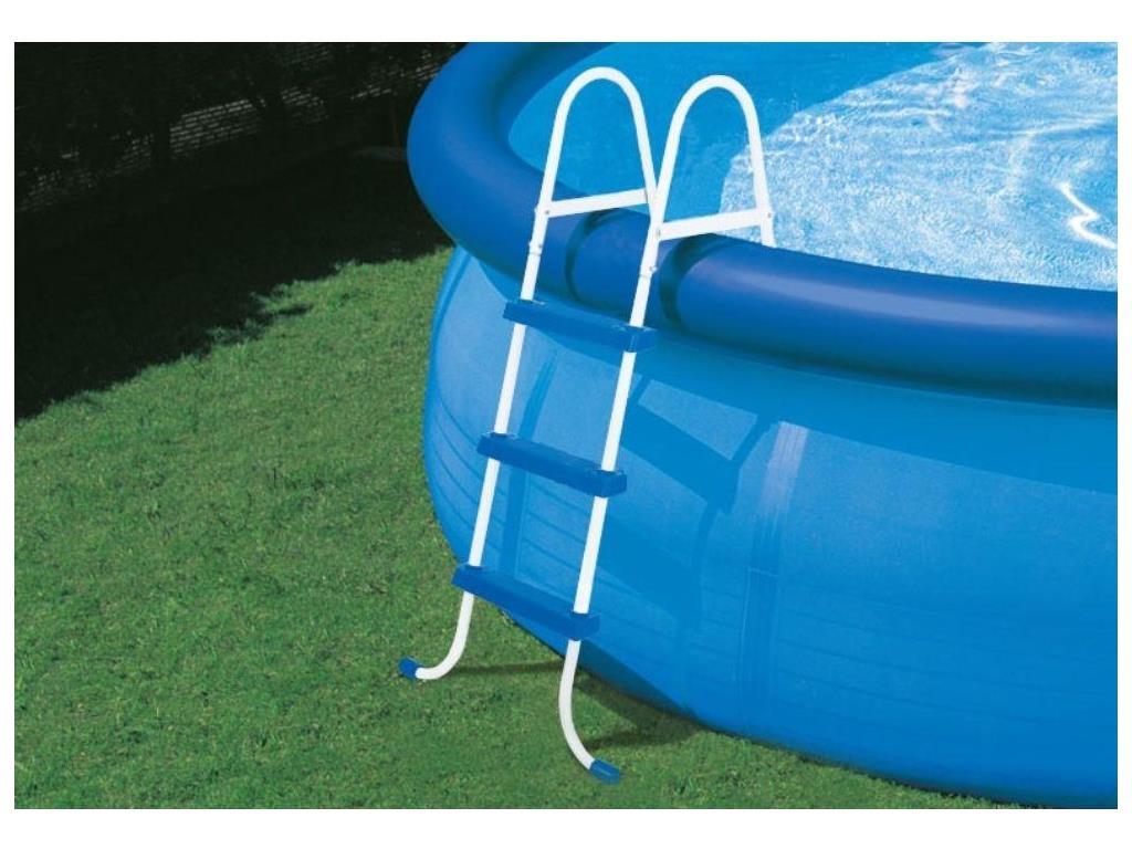 Scaletta per piscina fuoriterra 3 gradini intex h 107 cm for Accessori per piscine intex