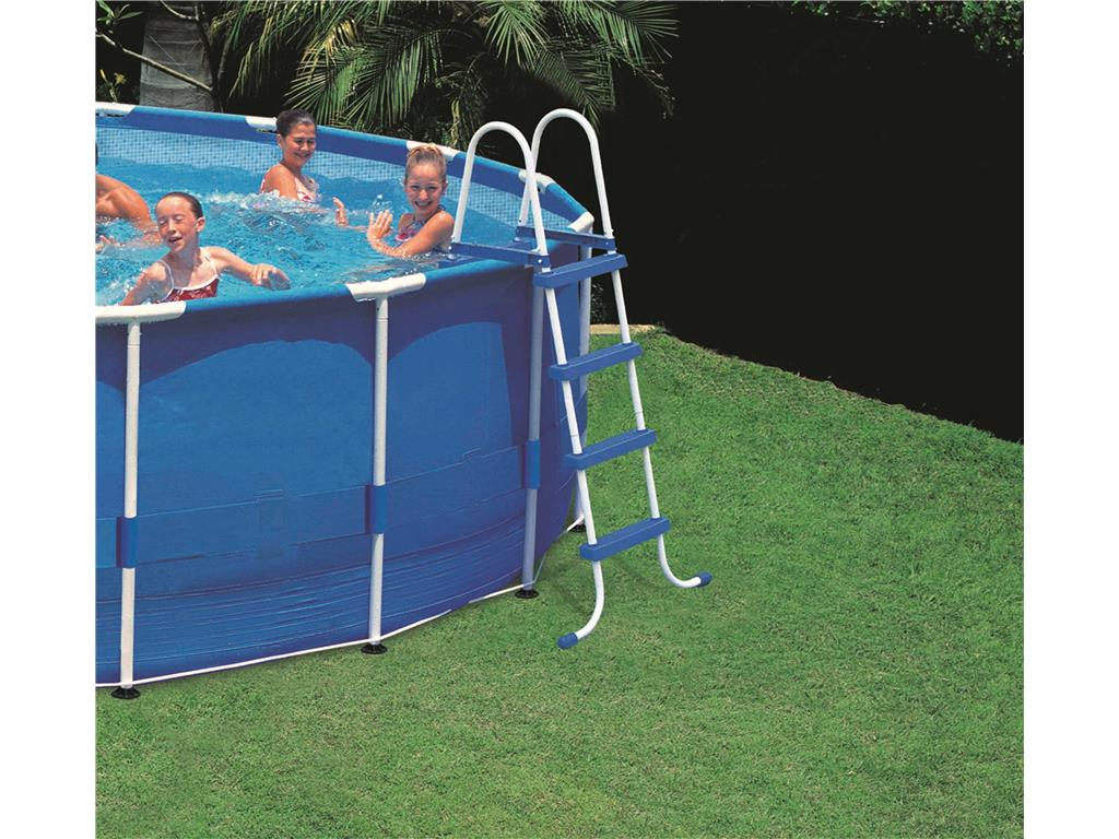 Scaletta per piscina fuoriterra 4 gradini intex h 122 cm in vendita accessori intex tutti i - Scaletta per piscina ...