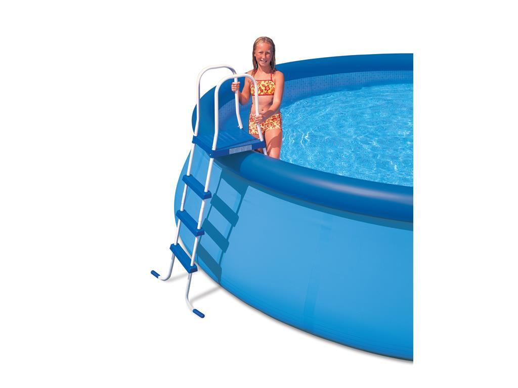 Scaletta per piscina fuoriterra 4 gradini intex h 122 cm - Gradini per piscine ...