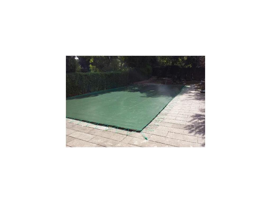 Copertura invernale piscina 235 gr mq con occhielli for Piscina 80 mq