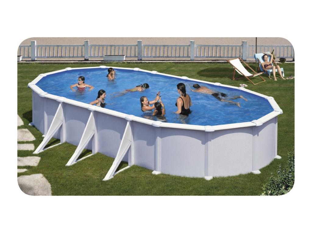 Piscina fuori terra ovale astralpool atlantis in vendita for Piscina fuori terra ovale