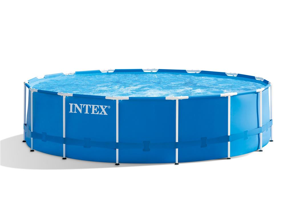 Piscina fuori terra rotonda metal frame intex 457x122 cm for Piscina intex rotonda