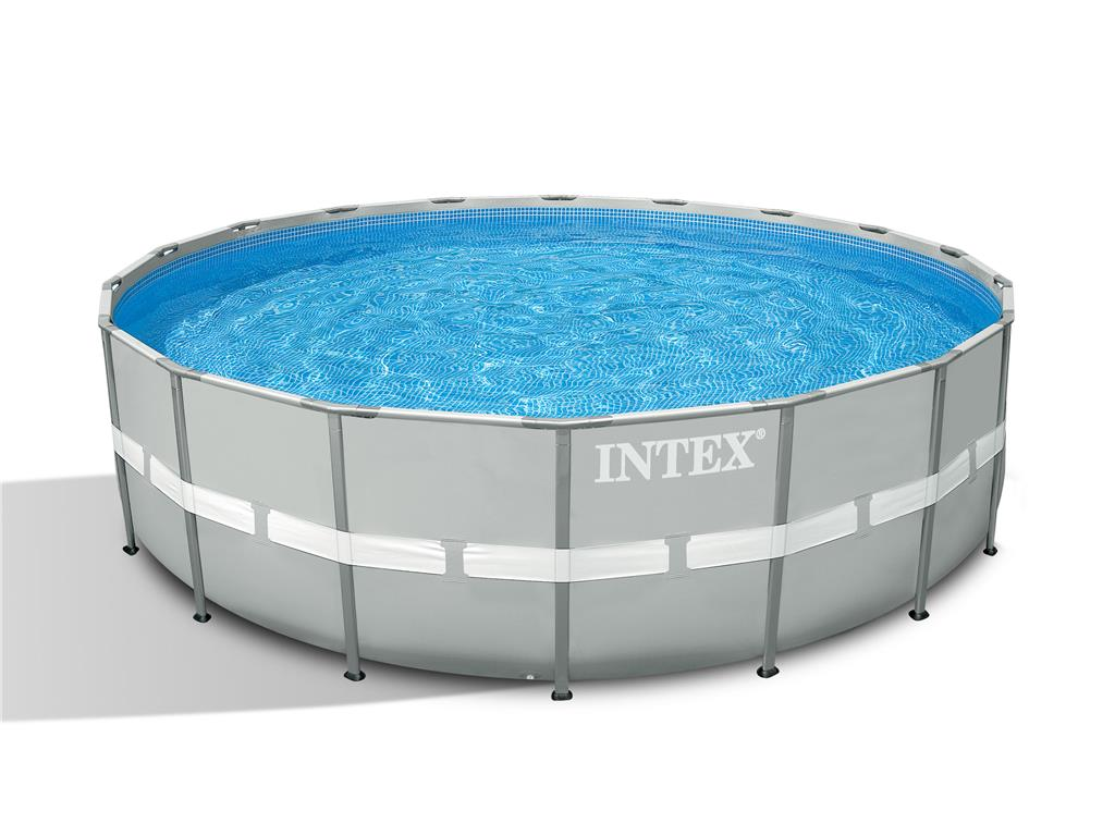 Piscina fuori terra rotonda ultra frame intex 488x122 cm for Piscina intex rotonda