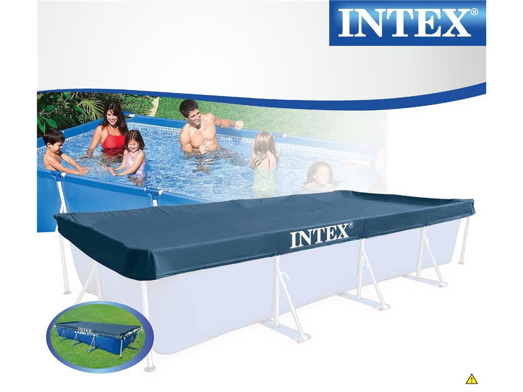 Telo copertura piscina frame rettangolare intex in vendita for Prodotti intex