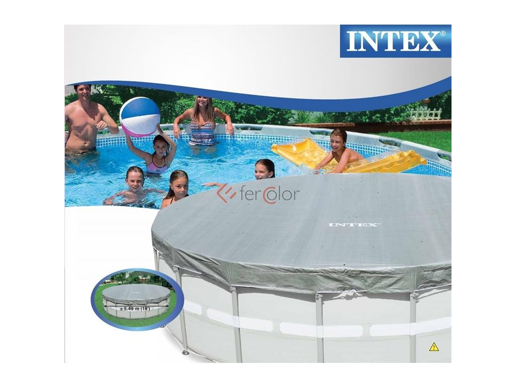 Telo copertura deluxe piscina ultra frame tonda intex for Accessori piscine intex
